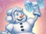 Снеговик спортсмен