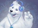 Белый мишка Диджей Сноу Майкл